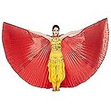 Wuchieal Bauchtänzerin Isis Wings Halloween Darstellende Angel Wings für Carnival Einschließlich...