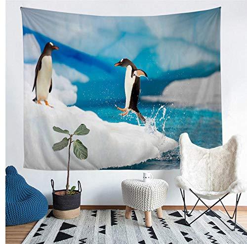 zhlxc Polyester Heimtextilien Antarktis Pinguin Tapisserie Wandbehang Sandstrand Picknick Werfen Zelt Isomatte