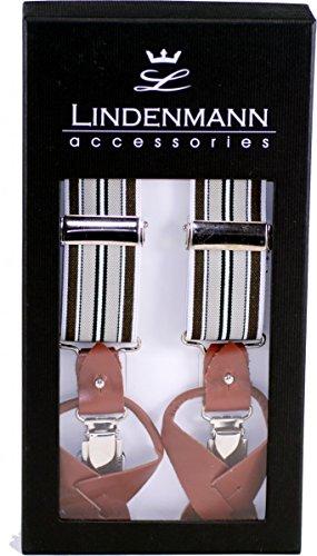 Lindenmann Bretelles Kombisystem, hochwertig verarbeitet, braun-beige-grün, 8422-008-130, Größe/Size:130