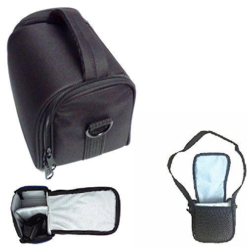 K-S-Trade Compatible avec Panasonic Lumix DMC-GX80 Sac D'épaule Transport Housse Protection Étui Appareil Photo Cas De Voyage Saccoche D'accessoires Anti-Choc Noir 1x