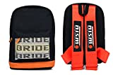 New Bride Racing Backpack with NISMO Power Racing Harness Shoulder Straps RED