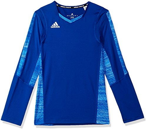 adidas Women's Girls Volleyball Quickset Long Sleeve Top, Large, Collegiate Royal