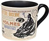 Sherlock Holmes Coffee Mug - Holmes quotes, rules of deduction, intriguing images, and Sidney Pagets' portrait - Comes in a Fun Gift Box