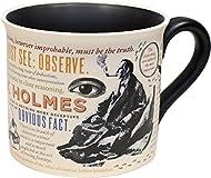 Maße: 9cm x 10cm ca. Keramik Becher ~ Mit literarische zitate aus Sherlock Holmes Spülmaschine und Mikrowellengeeignete Neuheit Tasse Im Karton