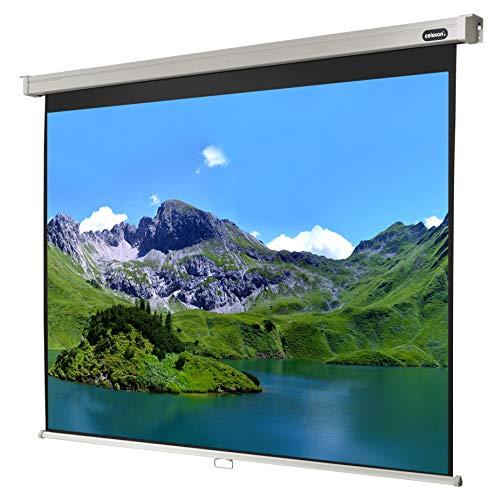 celexon manuell ausziehbare Heimkino- und Business-Beamer-Leinwand 4K und Full-HD Rollo-Leinwand Professional - 240 x 180 cm - 4:3 - Gain 1,2