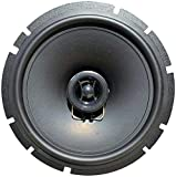 1 CIARE CZ170 altoparlante diffusore sistema a 2 vie coassiale da 16,50 cm 165 mm 6,5' 50 watt rms 100 watt max da predisposizione auto nero, 1 pezzo