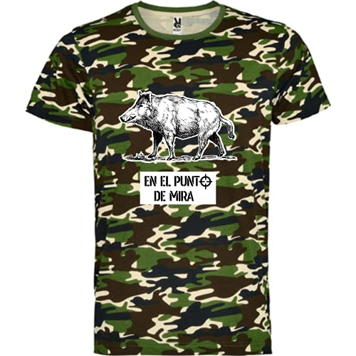 rainUP – Camiseta de Caza – Regalo para Cazador – Camiseta Motivacional jabalí - Día del Padre (Verde, XL)