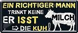 """Blechschilder Lustiger Grill Spruch """"EIN RICHTIGER Mann"""