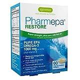 Pharmepa Restore, 1000mg Pure EPA Fish Oil, High Absorption rTG Omega-3, Triple Strength, High-Barrier Blister Packaging, Lemon Flavor, 1-Month Supply, 60 softgels