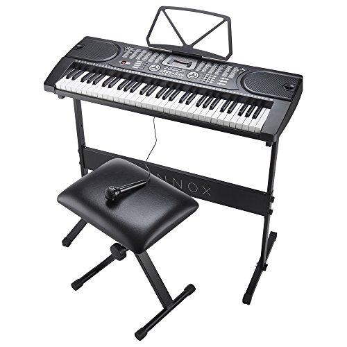 Zennox Teclado electrónico con soporte, taburete y micrófono Piano ...