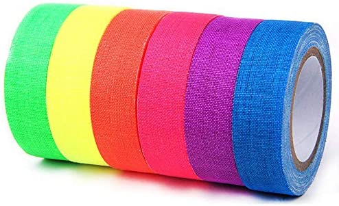 E More UV Blacklight Reactive Spike Tape Fluorescent Adhesive Tapes Gaffer Tape Dry Erase Neon product image