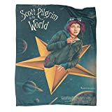 DRAGON VINES Scott Pilgrim Smashing Pumpkins Sexy Girl on The Stars Flannel Throw Blanket Warm Blankets for Winter Living Room 30x40inch(80x100cm)