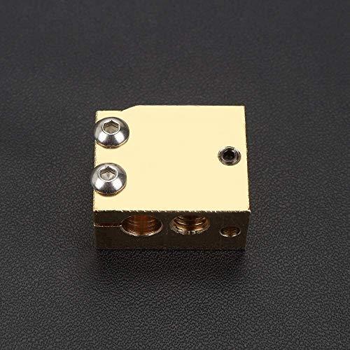 QOHFLD Accesorios de Impresora 2 uds Bloque Calefactor de volcán de Cobre H59 de Alta Temperatura para Sensor de Cartucho termistor PT100 Compatible con HOTEND V6 Accesorios de impresión 3D Calientes