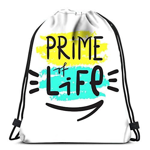 Mochilas con cordón Mochila Prime Life Simple Inspiratio Mochilas de Viaje Tote Mochila Escolar