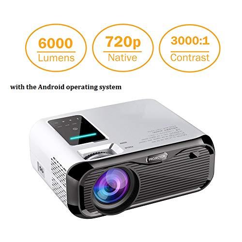 PTVdisplay Mini proyector LED Video Proyector de cine en casa 1080P compatible con HDMI/USB/TF tarjeta/VGA/AV y Smartphone