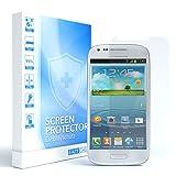 EAZY CASE 1x Panzerglas Bildschirmschutz 9H Festigkeit kompatibel mit Samsung Galaxy S3 Mini, nur 0,3 mm dick I Schutzglas aus gehärteter 2,5D Panzerglasfolie, Bildschirmschutzglas, Transparent/Kristallklar
