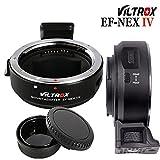 VILTROX EF-NEX IV - Anillo adaptador de enfoque automático para objetivo Canon EOS EF/EF-S a Sony E-mount NEX A7RIV A9II A7III A9 A7RIII A7RIII A7RII A7II A7R A7SIII A7m2 A7m3 A7r4