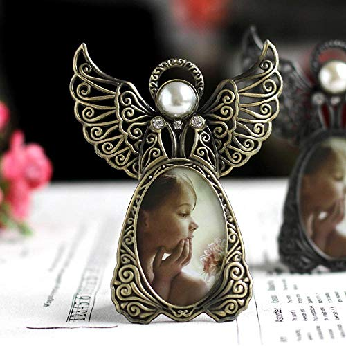 AAJTCT fotolijst Metaal Vintage Mini fotolijsten Mooie Engel Stijl Klassieke Foto Frame voor Home Decor en Geschenken Marco De Fotos