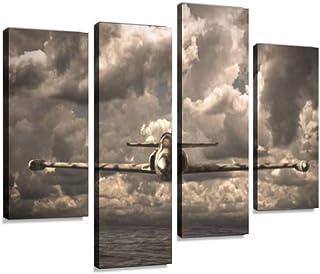 4 لوحات فنية جدارية فنية من القماش مطبوع عليها صورة مدينة نيويورك بمنظر جوي لغروب الشمس، صور ملكية، هدايا لتزيين المنزل من...