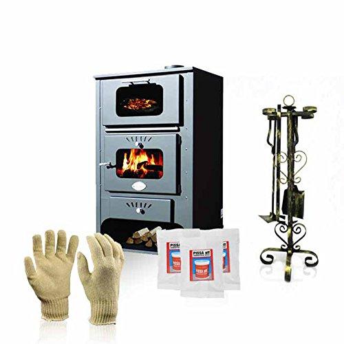 Estufa de leña con horno de Zvezda, Modelo GF, salida de calor de 16kW