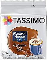 Tassimo Café Dosettes - 40 boissons Maxwell House Cappuccino goût choco (lot de 5 x 8 boissons)