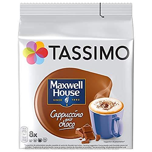 Tassimo Maxwell House Cappuccino Choco, Kaffee, Kaffeekapsel, T-Disc, Schokolade, 40 Portionen