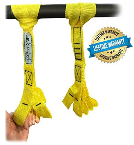 Core Prodigy Talons für Klimmzuggriff – Nylon Finger- und Daumenschlaufen, Hand- und Armtrainer (gelb)