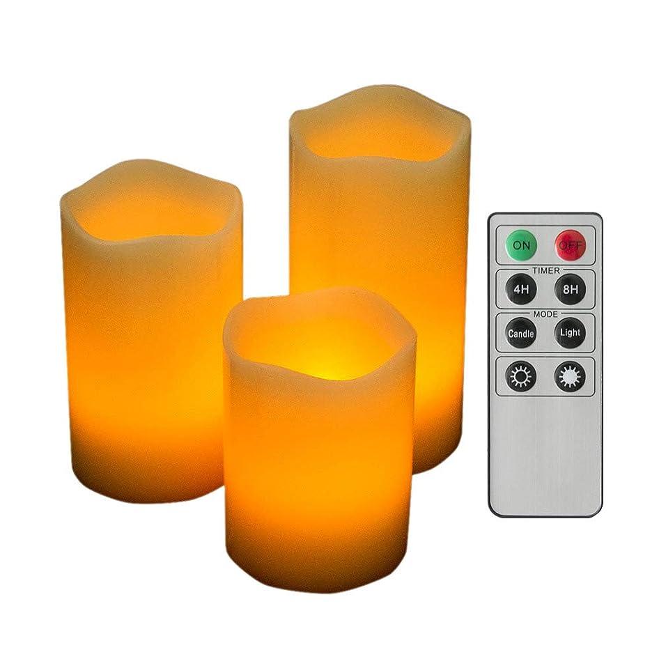 言い訳矩形スタックエア?リゾーム キャンドルライト LED リモコン付き インテリアライト おしゃれ 間接照明 スタンドライト Norma〔ノーマ〕 3個セット