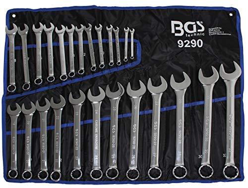 BGS 9290 | Maul-Ringschlüssel-Satz | 25-tlg | SW 6 - 32 mm | inkl. Tetron-Rolltasche | Gabelringschlüssel