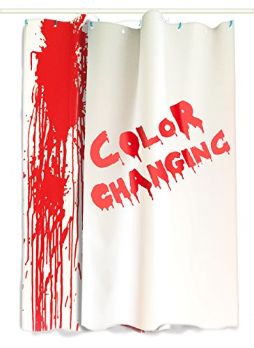 Bloody Curtains - 2 Large Color Changing Sheets That Turn Red When Wet, 36x72in (91x182cm) Sheet, Red/White, Halloween Decorations Color Changes One Side