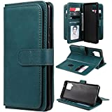 Galaxy A42 Funda de cuero para Samsung A42 5G Wallet Case Anti-Resistente Soporte TPU Flip Case, A Prueba de Golpes Cubierta (Verde)
