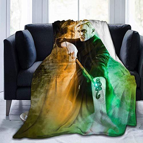 Dra-co Mal-foy - Manta de felpa ligera y cálida, suave y duradera para ropa de cama de 152 x 127 cm