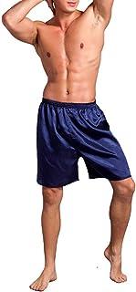 SAMGU Men's satin pyjama bottoms, sleepwear, boxer shorts, bottom shorts