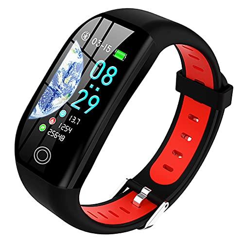 Rastreador de ejercicios, reloj inteligente, reloj deportivo, contador de calorías escalonado a prueba de agua IP67, para teléfonos Android y teléfonos iOS, recordatorio de SMS para teléfonos inteli