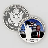 Trump 2017 Coin - The 45th President of the United States of America Statue of Liberty & Washington DC Challenge Coin