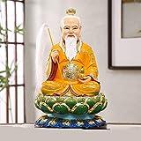 KKUUNXU Estatua de Taishang Laojun, Estatua de Buda de Resina, decoración de Muebles para el hogar, artesanía de Resina, Estatua de Buda