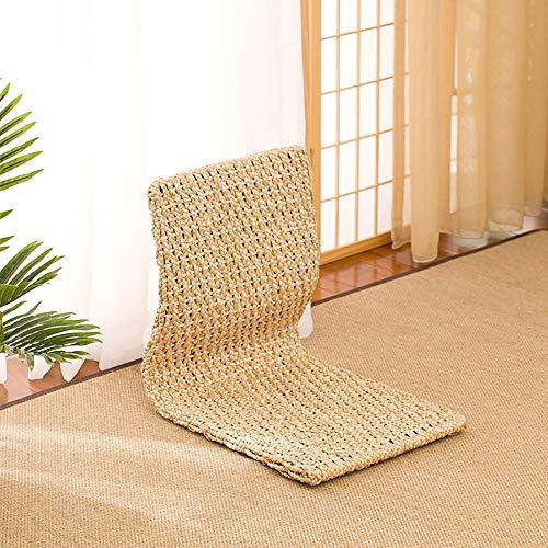 Vidsdere Japanischer Boden Stuhl Holz Tatami Zaisu faules Sofa Spiel Meditation Boden Sitz mit Rückenstütze Legless Stuhl,B