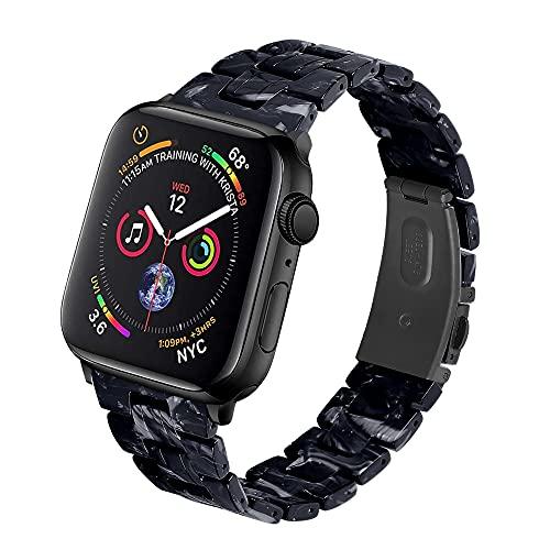 QINJIE Correa de Reloj de Resina de Moda Compatible con Apple Watch Series 1/2/3/4/5/6, Pulsera de Resina Delgada, Correa Ligera para Mujer,A,38MM