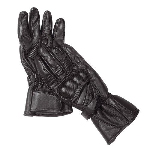 Roleff Guantes de Cuero Racewear, Negro, XXL