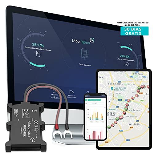 Movolytics Localizador GPS para Vehículos 5-en-1 │ Posición Tiempo Real GPS Tracking│ Geo-Vallas, alertas, y monitoreo Estilo de conducción │Mini GPS de rastreo│para Coches, Furgonetas y Camiones
