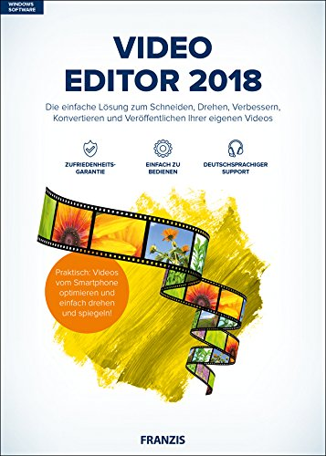 Franzis Video Editor 2018 - Software de video (1 licencia(s), Alemán, Completo, Windows 10,Windows 7,Windows 8,Windows 8.1, 2000 MHz, 2048 MB)