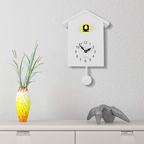 WALPLUS kuckucksuhr 25 x 20 x 10 cm PVC weiß/gelb