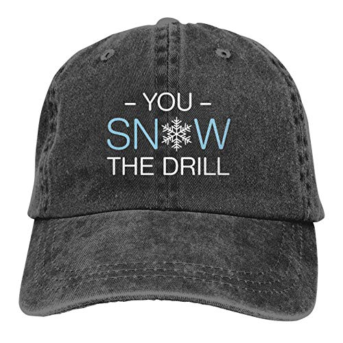 YZLL You Snow The Drill Men's and Women's Baseball Caps, Cotton Washed Adult Cowboy Hats, Adjustable Size Dad Hats