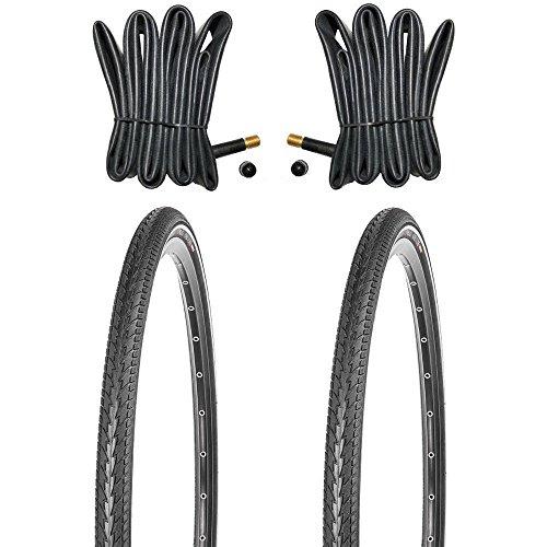 Kujo 28 Zoll Fahrradreifen Pannenreifen Set 2x28 Zoll 700x38c 40-622 inkl. Schlauch AV