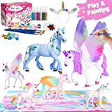 Retruth Unicorns Gifts for Girls, Unicorn Painting Kit for Kids with Hairband and Glitter Pigment, Unicorn Toys for Girls Age 3+, Paint Your Own Unicorn
