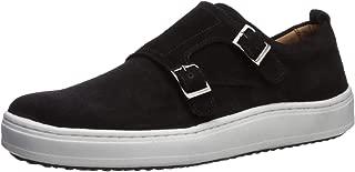 Mens Leather Luxury Double Monk Slip on Sneaker Loafer