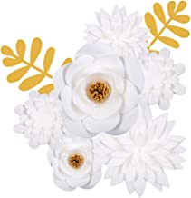Paper Flowers Decorations for Wall Backdrop, Unique Pre-Assembled 3D Giant Artificial Flower Decoration for Birthday Parties, Showers, Weddings, Girls Rooms, Baby Nurseries and Christmas