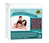 RestComfort Zippered Mattress Protector and Encasement, Dust Mite and Bed Bug Proof with Cotton Terry Top, Hypoallergenic and Water Resistant (Twin, Stretches 9' to 15' Depth)