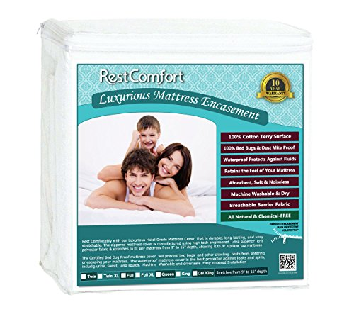 RestComfort Zippered Mattress Protector and Encasement, Dust...