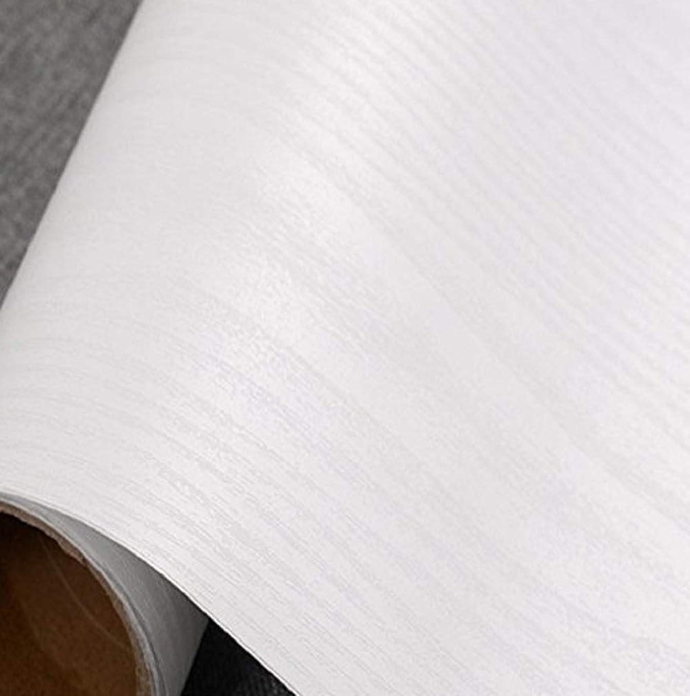 ディレクター管理するパット木目 調 壁紙シール かんたん 貼付 シール タイプ リフォーム ウォールステッカー (白)